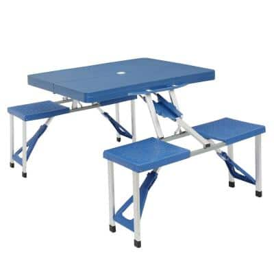 Aluminum Alloy Blue Camping Folding Table and Chair