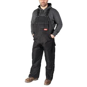 Men's Gridiron X-Large Black Zip-to-Thigh Bib Tall Overall