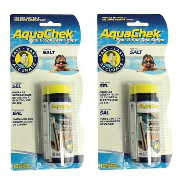Aquachek Swimming Pool Spa White Salt Titrators Test Kit Strips Pack 2 2 X 561140 The Home Depot