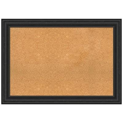 Shipwreck Black 41.38 in. x 29.38 in. Framed Corkboard Memo Board