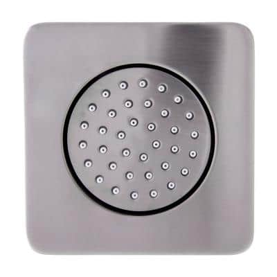 4.13 in. Fixed Shower Head with Adjustable Spray in Brushed Nickel