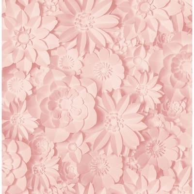 Dacre Pink Floral Pink Wallpaper Sample