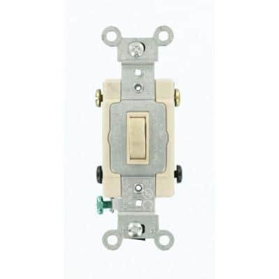 15 Amp Single-Pole Toggle Framed 4-Way AC Switch, Light Almond