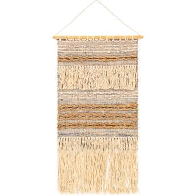 Liam 20 in. x 36 in. Tan Wall Hanging