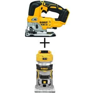 20-Volt MAX XR Cordless Brushless Jigsaw with Brushless Router