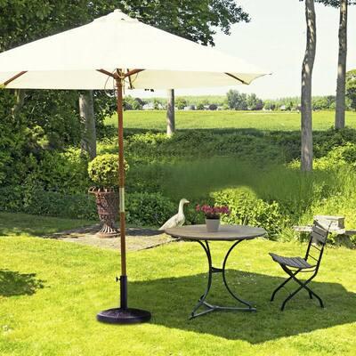 18 in. Round Market Standing Outdoor Living Heavy-Duty Patio Umbrella Base Stand in Bronze