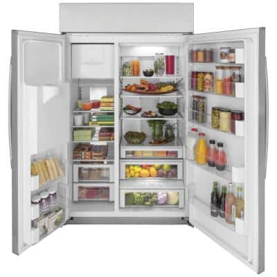 Profile 28.7 cu. ft. Smart Built-In Side by Side Refrigerator in Stainless Steel