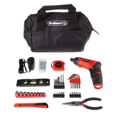 3.6-Volt Lithium-Ion Cordless 1/4 in. Electric Screwdriver (121-Piece)