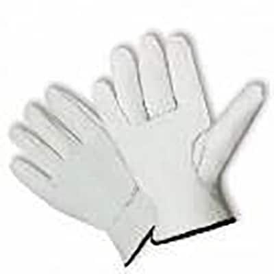 Men's Cow Grain Leather Driver Glove, Natural White Color