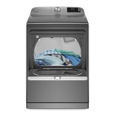 7.4 cu. ft. 240-Volt Smart Capable Metallic Slate Electric Vented Dryer with Hamper Door and Steam, ENERGY STAR