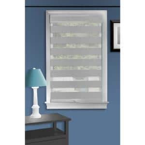 Celestial Grey Cordless Light Filtering Double Layered Polyester Roller Shade 34 in. W x 72 in. L