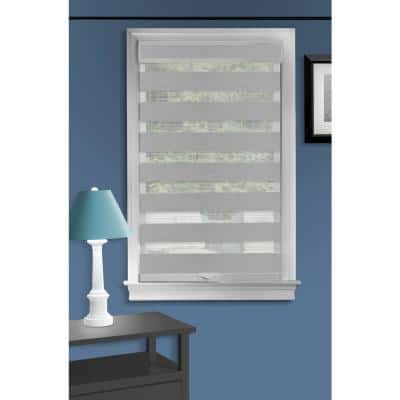 Celestial Grey Cordless Light Filtering Double Layered Polyester Roller Shade 35 in. W x 72 in. L