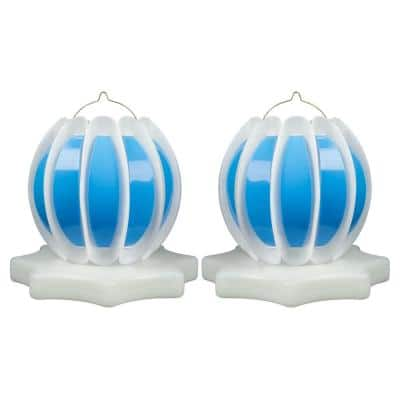 Floating Solar Swimming Pool Lantern - 2 Pack in Blue