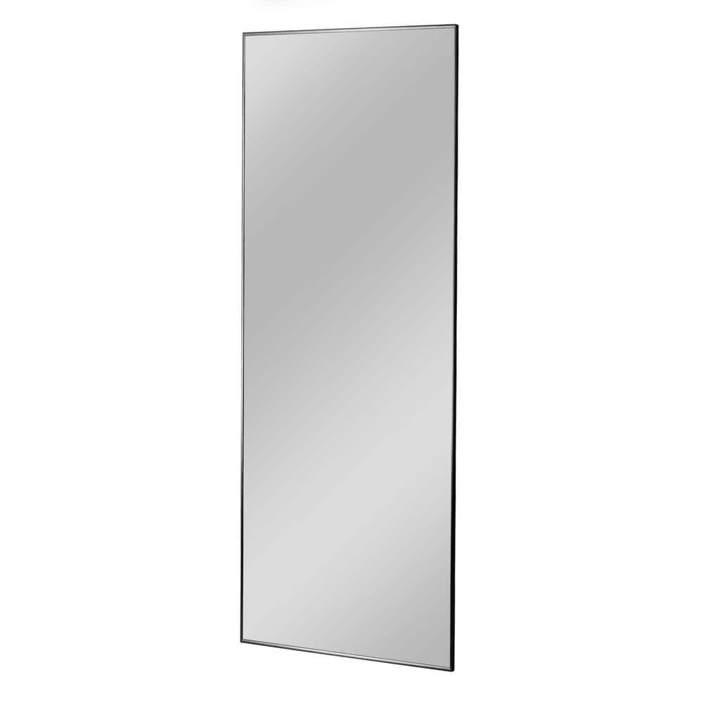 Large Rectangle Black Shelves Drawers Modern Mirror 55 In H X 20 In W Jj01280aafn 3 The Home Depot