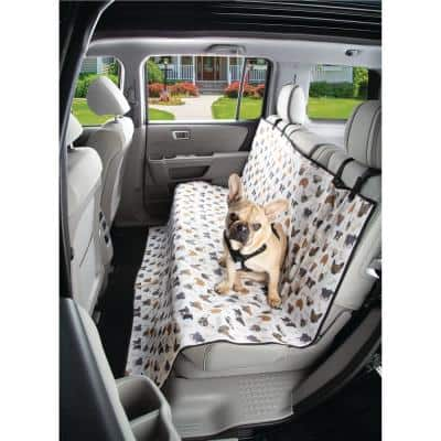 Brown/White/Gray Waterproof Dog Face Theme Car Seat Furniture Cover