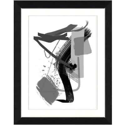 "20 in. x 24 in. ""Calming grays IV"" Framed Archival Paper Wall Art"