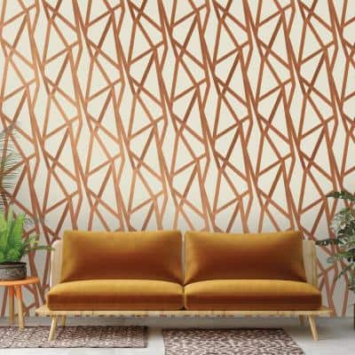 Genevieve Gorder Intersections Bronze Peel and Stick Wallpaper (Covers 56 Sq. Ft.)