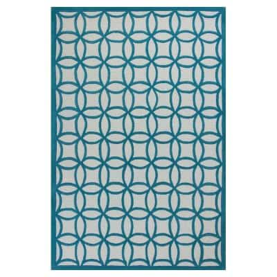 Play Time Teal 3 ft. x 5 ft. Area Rug