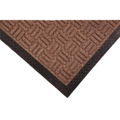 Crossbar Brown 48 in. x 72 in. Commercial Entrance Mat