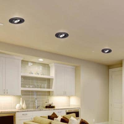6 in. 3000K Remodel Directional Gimbal Bronze Integrated LED Recessed Trim