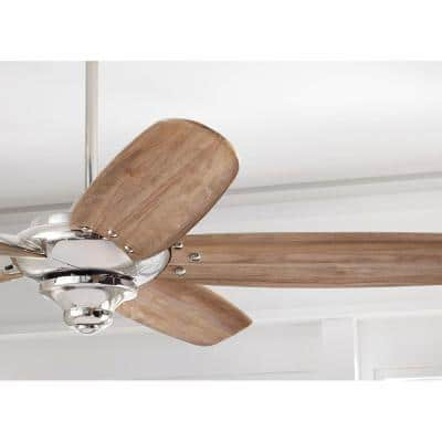 Altura DC 68 in. Indoor Polished Nickel Dry Rated Ceiling Fan with Downrod, Remote Control and DC Motor