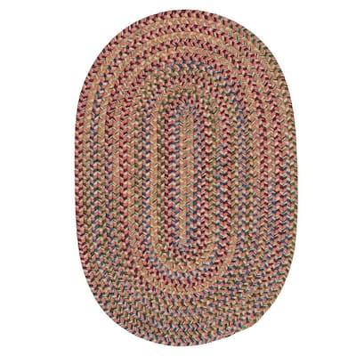 Millwork Terracotta 7 ft. x 9 ft. Tweed Indoor Oval Area Rug