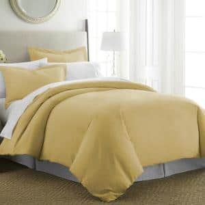 Performance Gold Twin 3-Piece Duvet Cover Set