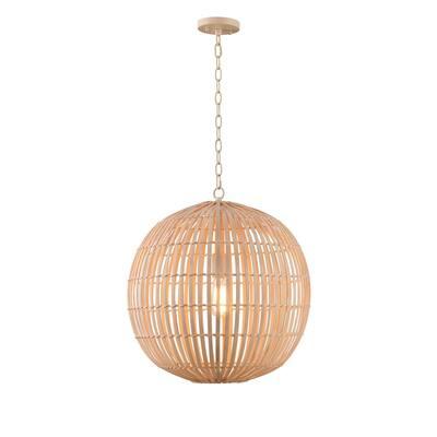 Drift 1-Light Natural Bamboo Pendant