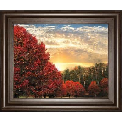 """""""Crimson Tress"""" By Celebrate Life Gallery Framed Print Wall Art 26 in. x 22 in."""