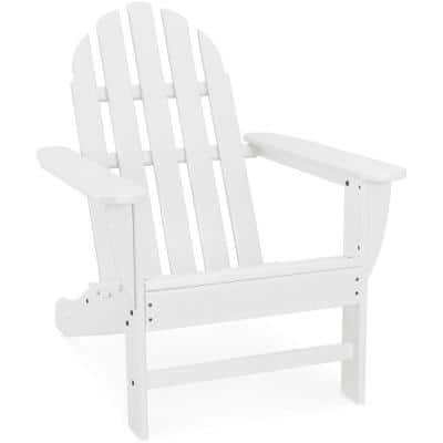 Classic All-Weather Plastic Adirondack Chair in White