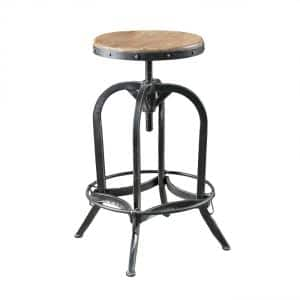 Mason 33 in. Natural Adjustable Bar Stool