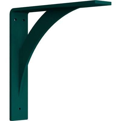 2 in. x 10 in. x 10 in. Steel Hammered Deep Green Legacy Bracket
