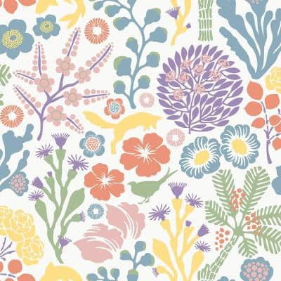 Flytta Multicolor Fauna Paper Strippable Roll Wallpaper (Covers 57.8 sq. ft.)