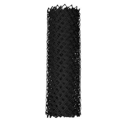 48 in. x 50 ft. 9-Gauge Chain Link Black Fabric