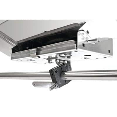 Dual Horizontal Round Rail (SD) Mount for 12 in. x 18 in. Smaller Rectangular Grills and Single Mount Tables