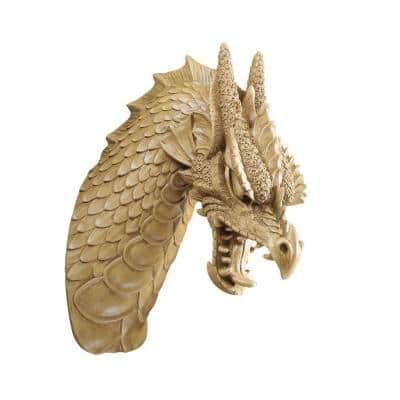 15.5 in. x 6.5 in. Head of the Beast Dragon Wall Sculpture