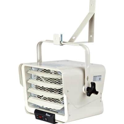 7500-Watt 240-Volt Hardwired Shop Garage Electric Heater Wall/Ceiling Mounted with Remote Controlled Thermostat