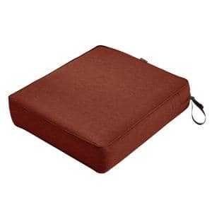 Montlake Heather Henna Red 25 in. W x 27 in. D x 5 in. Thick Outdoor Lounge Chair Cushion