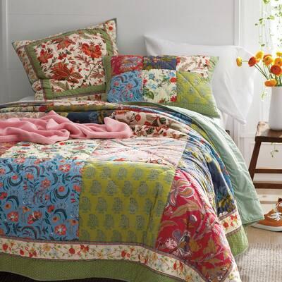 Calypso Multicolored Floral Cotton Quilt