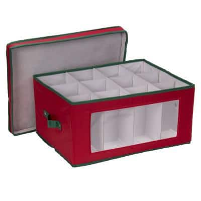 12-Qt. Glasses Storage Box in Red