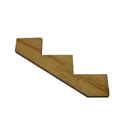 2 in. x 12 in. 3-Step Pressure-Treated Pine Stringer