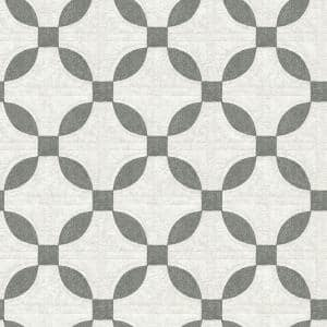 8 in. x 10 in. Justice Charcoal Quilt Wallpaper Sample