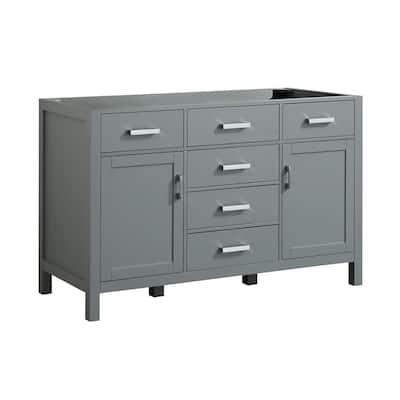 Hampton 54 in. W x 21.5 in. D Bath Vanity Cabinet Only in Grey