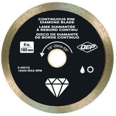 4 in. Diamond Blade for Wet or Dry Tile Saws for Ceramic Tile