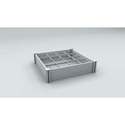 Classic 48 in. x 11 in. White Vinyl Raised Garden Bed with GroGrid