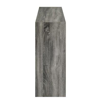 Mckinley 35.4 in. Wood Color 6-Shelf Standard Bookcase