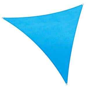 12 ft. x 12 ft. 220 GSM Waterproof Blue Triangle Sun Shade Sail Screen Canopy, Outdoor Patio and Pergola Cover