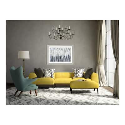 """31 in. H x 42 in. W """"Silver Rain"""" by """" Karen Lorena Parker"""" Framed Print Wall Art"""