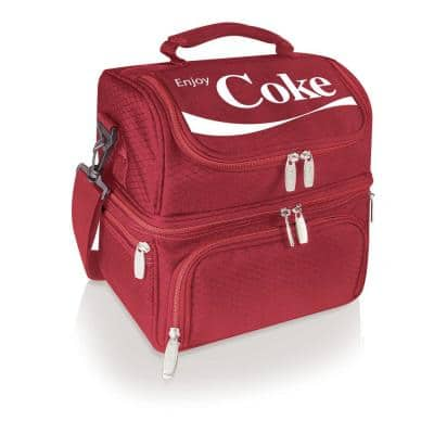 3 Qt. 8-Can Coca-Cola Pranzo Lunch Tote Cooler in Red
