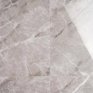 Selene Nambia Gray 24 in. x 48 in. Polished Porcelain Floor and Wall Tile (15.49 sq. ft. / Case)